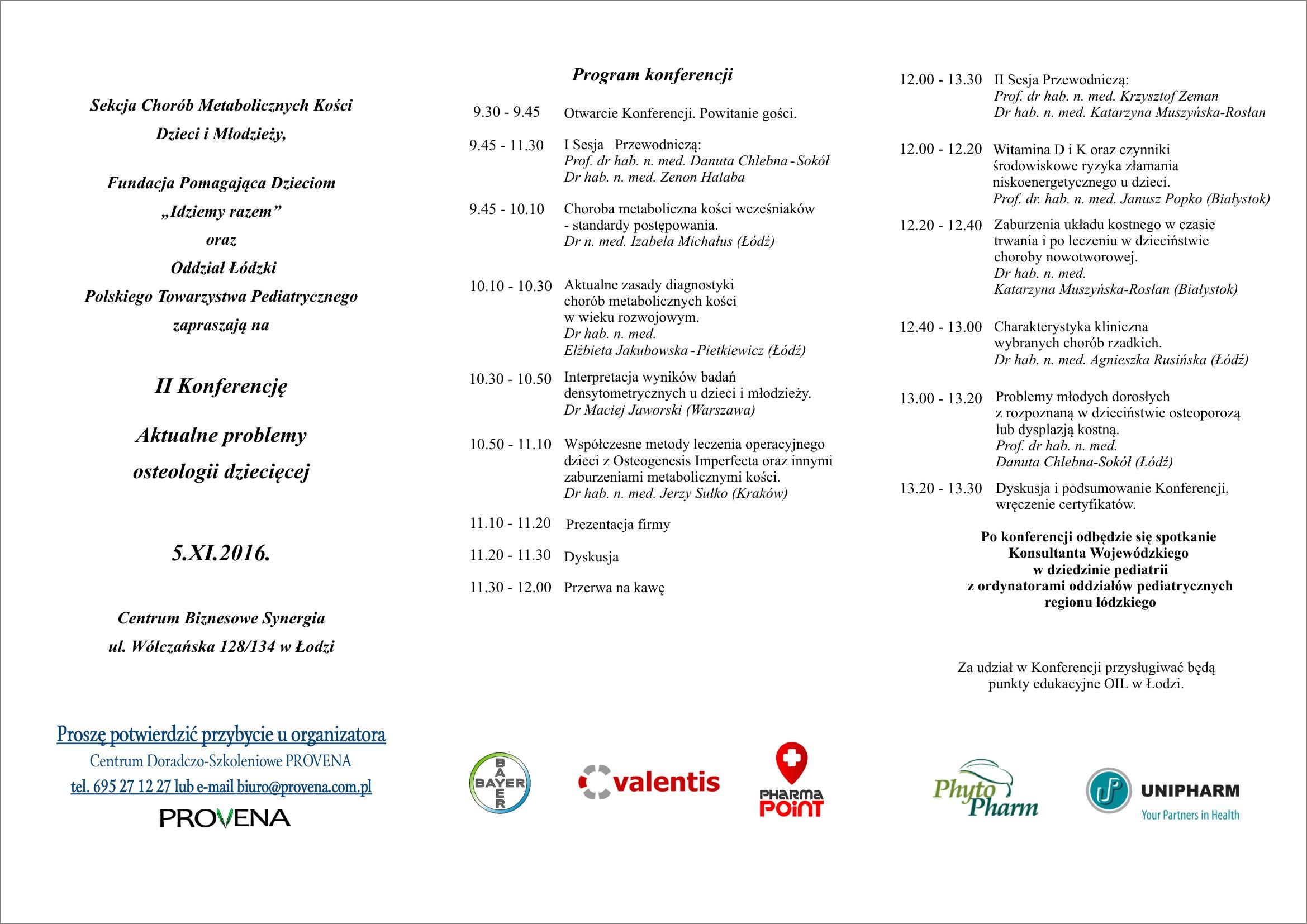 Zaproszenie- 5.XI.2016